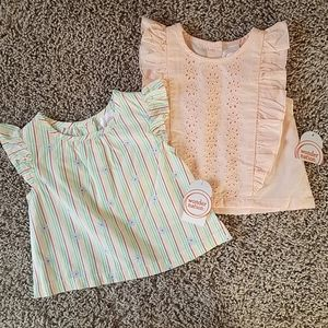 Light weight ruffle sleeve baby girl shirts